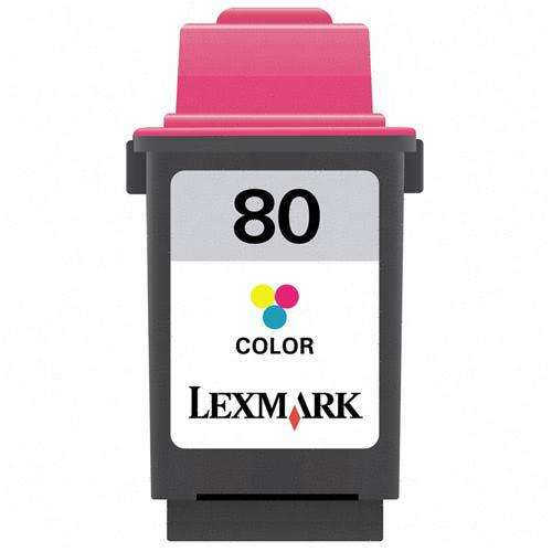 TriColor Inkjet Cartridge compatible with the Lexmark (Lexmark#80) 12A1980